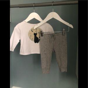 Zara T-shirt and H&M pants